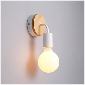 olcso Falilámpák-1db kreatív loft egyszerű vas hajlított fal lámpa fa divat szabadidős bár kávézó étterem egyedi fali lámpa 220-240v