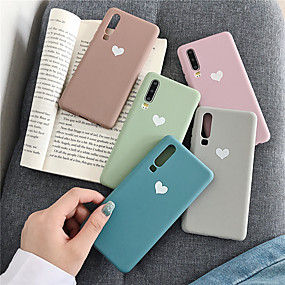 cheap Huawei Honor Cases / Covers-Case For Huawei Huawei Nova 4 / Huawei P20 / Huawei P20 Pro Pattern Back Cover Heart / Solid Colored TPU