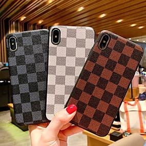 voordelige Opruiming-hoesje Voor Apple iPhone XR / iPhone XS Max / iPhone X Schokbestendig / Patroon Achterkant Geometrisch patroon Hard PU-nahka