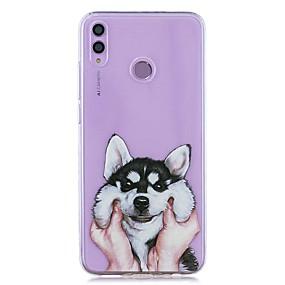 Недорогие Чехлы и кейсы для Huawei серии Y-чехол для huawei honor 8x / huawei p smart (2019) выкройка / прозрачная задняя крышка хаски мягкое тпу для mate10 pro / mate10 lite / y6 (2018) / y5 (2018) / p20 lite / p smart / p20 pro