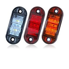 Недорогие Задние фонари-Sencart 2шт 12v 24v янтарно-желтый белый красный dsside свет светодиодный маркер прицеп грузовика включить габаритный фонарь