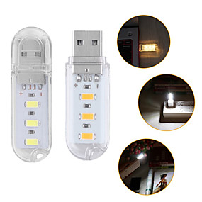 povoljno LED noćna rasvjeta-1pc prijenosni mini 3-vodio usb svjetlo noćna svjetiljka otvoreni kamp svjetlo smd 5730 za pc stolno prijenosno računalo čitanje moć banke