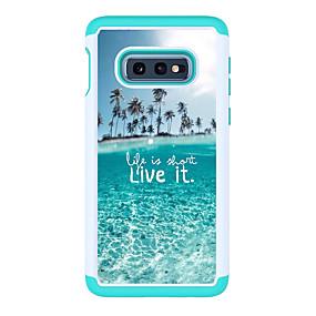voordelige Galaxy S7 Edge Hoesjes / covers-hoesje Voor Samsung Galaxy S9 / S9 Plus / S8 Plus Patroon Achterkant Woord / tekst Hard PC