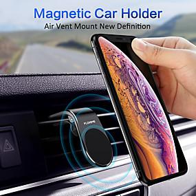 billige Køretøjsmonteret-floveme magnetisk telefon bilmontering magneter håndfri universal smart gps mobiltelefon holder til billuftventilationsmontering til iphone 11 pro max xr xs x 8 7 plus samsung galaxy s10 s9 s8 note 10