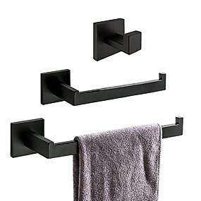 رخيصةأون أدوات الحمام-مجموعة اكسسوارات الحمام تصميم جديد / خلاق معاصر / أنتيك ستانلس ستيل / الفولاذ المقاوم للصدأ / الحديد / معدن مل 3pcs - حمام مثبت على الحائط