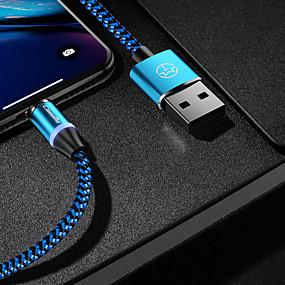 Недорогие Android-caseme type-c кабель магнитное зарядное устройство кабель телефона быстрая зарядка светодиодная 1,0 м (3 фута) нейлоновая оплетка для Samsung / Huawei / Sony / Xiaomi / OPPO / VIVO