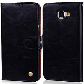 Недорогие Чехлы и кейсы для Galaxy A5(2016)-Кейс для Назначение SSamsung Galaxy A5(2016) Бумажник для карт / Флип Чехол Однотонный Твердый Кожа PU