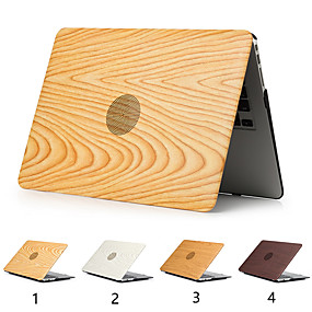 "cheap MacBook Air 11"" Cases-Wood Grain Cover Case For MacBook Pro Air 11-15 Computer Case 2018 2017 2016 Release A1989 / A1706 / A1708 With Touch Strip PVC Hard Shell"