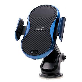 voordelige Autoladers-snelle draadloze auto-oplader mount automatische opspannende draadloze opladingspad infrarood sensor telefoonhouder