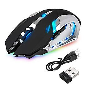 povoljno Oprema za PC i tablet-vodio bežični optički gaming miša punjiva x7 visoke rezolucije miša