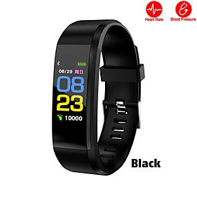 رخيصةأون الأساور الذكية-115plus شاشة ملونة سوار الذكية دعم ضغط الدم ممارسة رصد معدل ضربات القلب