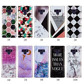 olcso Galaxy S4 tokok-Case Kompatibilitás Samsung Galaxy S9 / S9 Plus / S8 Plus Minta Fekete tok Márvány Puha TPU
