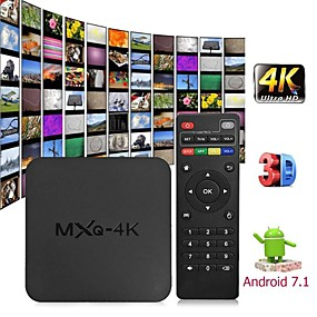 povoljno Potrošačka elektronika-mxq 4k android 7.1 2.4g wifi dlna pametni tv kutija rk3229 quad core 1g + 8g set-top box media player