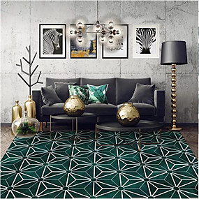 cheap Mats & Rugs-Area Rugs Geometric Pattern / Modern Polyster, Rectangle Superior Quality Rug
