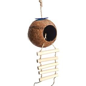 olcso Kiegészítők madaraknak-Madár Ülőhelyek és létrák Háziállat-barát Focus Toy Öv / szövet játékok Madár Fa 8*22 cm