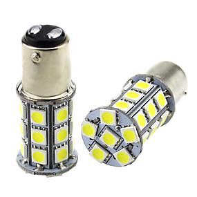 Недорогие Тормозные огни-2шт 1157 bay15d светодиодные автомобильные лампы 3 Вт 24 В smd 5050 27 светодиодные лампы для указателей поворота противотуманные фонари задний фонарь задние противотуманные фонари