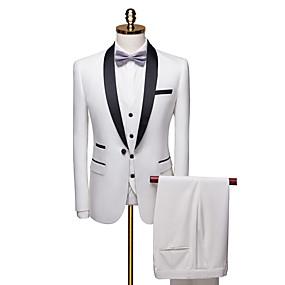 levne Vlastní Tuxedo-bílé vlastní smoking