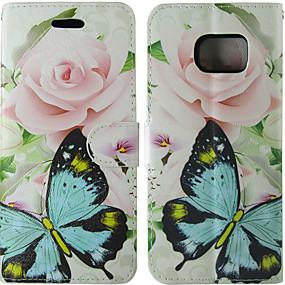 olcso Galaxy S4 tokok-Case Kompatibilitás Samsung Galaxy S8 / S7 / S4 Kártyatartó / Flip Héjtok Egyszínű / Pillangó / Virág Kemény PU bőr