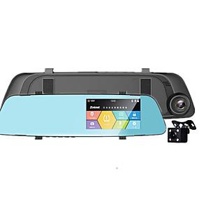voordelige Auto DVR's-de nieuwe hd-dashcam heeft een achteruitkijkspiegel van 4,3 met een omgekeerd beeld
