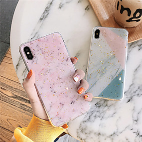 billiga Shoppa efter telefonmodell-fodral Till Apple iPhone XS / iPhone XR / iPhone XS Max Mönster Skal Marmor Mjukt TPU