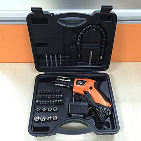 povoljno Odvijači i setovi odvijača-4.8v električni odvijač skup punjenja kućanstva pištolj tipa dvosmjerna rotirajuća plastična kutija mini kombinacija riser