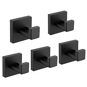 رخيصةأون أدوات الحمام-خطاف الروب تصميم جديد / خلاق معاصر / أنتيك ستانلس ستيل / الفولاذ المقاوم للصدأ / الحديد / معدن 5pcs - حمام مثبت على الحائط