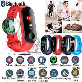 رخيصةأون الأساور الذكية-M3 الذكية معصمه شاشة كبيرة تعمل باللمس رسالة oled معدل ضربات القلب وقت اللياقة سوار smartband ووتش لالروبوت ios سوار ساعة