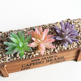 levne Umělé květiny-umělé květiny 3 větev aloe klasické fáze rekvizity stylové sukulentní rostliny stolní květina