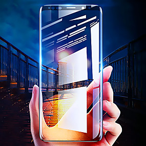 Недорогие Чехлы и кейсы для Galaxy S-защитная пленка для samsung galaxy s8 / s8 plus / s9 / s9 plus 3d изогнутое полностью закаленное стекло 1 шт. передняя защитная пленка для экрана высокой четкости (hd) / твердость 9 ч /