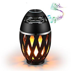 povoljno LED noćna rasvjeta-1pc bluetooth zvučnik usb vodio plamen svjetla otvoreni prijenosni vodio plamen atmosferu svjetiljka stereo zvučnik vanjski kamp woofer mini