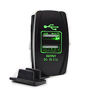 voordelige Auto-elektronica-5v 3.1a autolader dubbele usb-poorten led voltmeter voor vrachtwagen auto motorfiets suv