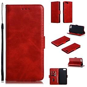 Недорогие Чехлы и кейсы для Huawei Honor-Кейс для Назначение Huawei Huawei Note 10 / Huawei Honor 10 / Honor 10 Lite Кошелек / Бумажник для карт / Защита от удара Чехол Однотонный Твердый Кожа PU