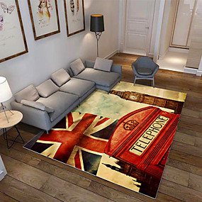 cheap Mats & Rugs-Modern National Flat Printing Carpet Mat for Living room Bedroom Bedside