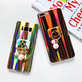 voordelige Galaxy J3(2017) Hoesjes / covers-hoesje Voor Samsung Galaxy J7 Prime / J7 (2017) / J7 (2016) Ringhouder / Glitterglans Achterkant Glitterglans / Kleurgradatie Zacht TPU