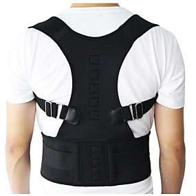 お買い得  エクササイズ、フィットネス-バックサポート/ランバーサポートベルト 肩用サポーター 姿勢矯正器具 のために ジムトレーニング ランニング 持ち運びが容易 マッスルサポート 弾性 アウトドアスポーツ用 男女兼用 麦わら 1個 屋内
