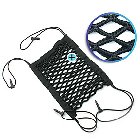 cheap Car Organizers-Car 2-Layer Mesh Organizer Seat Back Net Bag Pocket Cargo Tissue Holder Storage Netting Pouch