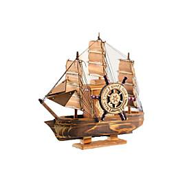 olcso Szabadidő hobbi-Játékcsónakok Csónak Kézzel készített Fa Gyermek Összes Játékok Ajándék