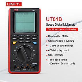 رخيصةأون أجهزة القياس الرقمية & أجهزة قياس الذبذبات-مصغرة وحدة الذبذبات المتر متعدد ut81b / ut81c السعة فولت أمبير أوم متر في الوقت الحقيقي معدل العينة 8-16 ميجا هرتز 40-80 مللي ثانية / ثانية