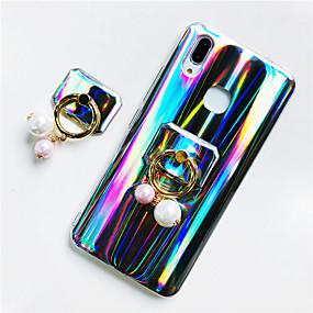 voordelige Huawei Honor hoesjes / covers-hoesje Voor Huawei Huawei P20 / Huawei P20 Pro / Huawei P20 lite Ringhouder / Glitterglans Achterkant Glitterglans / Kleurgradatie Zacht TPU / P10