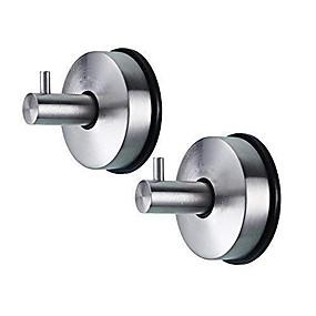 olcso Fürdőszobai kütyük-2db 304 rozsdamentes acél vákuumszívó kupakok zuhanytálca levehető törülközőtartó és konyhai szervező törülközőkabát kabát