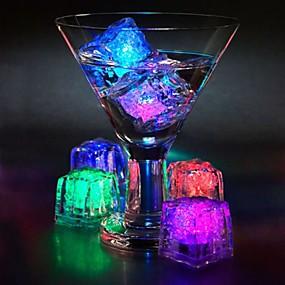 povoljno LED noćna rasvjeta-12kom diy boja flash vodio led kocke vjenčanja festival dekor party rekviziti svijetao vodio glowing indukcija led cubeschristmas nova godina bar \ t