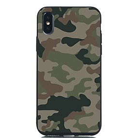 voordelige iPhone 11 Pro hoesjes-hoesje Voor Apple iPhone XS / iPhone XR / iPhone XS Max Schokbestendig / Mat / Patroon Achterkant Landschap TPU