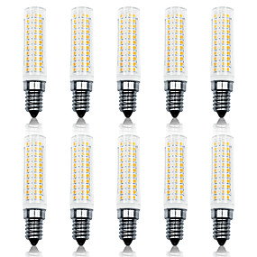 olcso LED kukorica izzók-loende 10 pack 11w fényvisszaverő led kukorica fények 110-130v 200-240v 750lm e14 136db led lámpa smd2835 fehér / meleg fehér