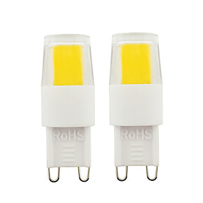 povoljno LED žarulje s nitima-2pcs g9 vodio žarulje 3w cob vodio svjetlo dimmable žarulje ac110v ac220v za kućni ured topla bijela bijela