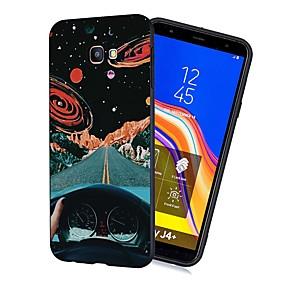 Недорогие Чехлы и кейсы для Galaxy J5(2017)-Кейс для Назначение SSamsung Galaxy J7 (2017) / J6 (2018) / J5 (2017) Защита от удара / Матовое / С узором Кейс на заднюю панель Цвет неба Мягкий ТПУ