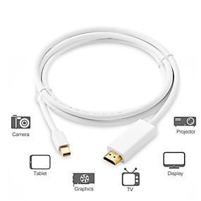 preiswerte DisplayPort-Adapterkabel für Mini-Displayport / Verbindungskabel, Adapterkabel für Mini-Displayport zu HDMI 1.4 / Verbindungskabel männlich - männlich 1,8 m