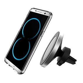 Недорогие Автомобильные зарядные устройства-360 градусов вращения автомобильное беспроводное зарядное устройство для iphone xsmax / xs / xr / 8plus ци магнитное беспроводное автомобильное зарядное устройство для samsung s10 / s9 / s8 10 Вт