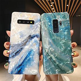 Недорогие Чехлы и кейсы для Galaxy Note 8-Кейс для Назначение SSamsung Galaxy Note 9 / Note 8 IMD / С узором / Сияние и блеск Кейс на заднюю панель Мрамор Мягкий ТПУ