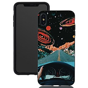 voordelige iPhone 11 Pro Max hoesjes-hoesje voor Apple iPhone XR / iPhone XS Max patroon / mat / schokbestendig achterkant Sky Soft TPU voor iPhone 5 / SE / 5S / 6 / 6S Plus / 7/8 Plus / XS / X