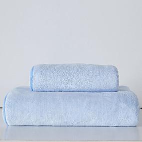 olcso Törülközők és köntösök-Kiváló minőségű Törülköző, Egyszínű / Divat 100% Mikroszálas Fürdőszoba 1 pcs